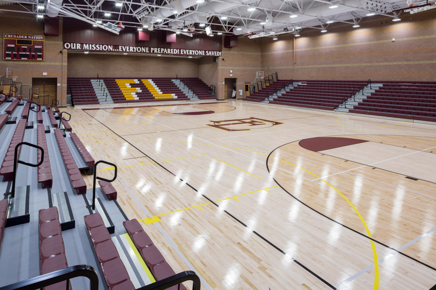 Faith lutheran school addition includes gym stem biology for Building a basketball gym