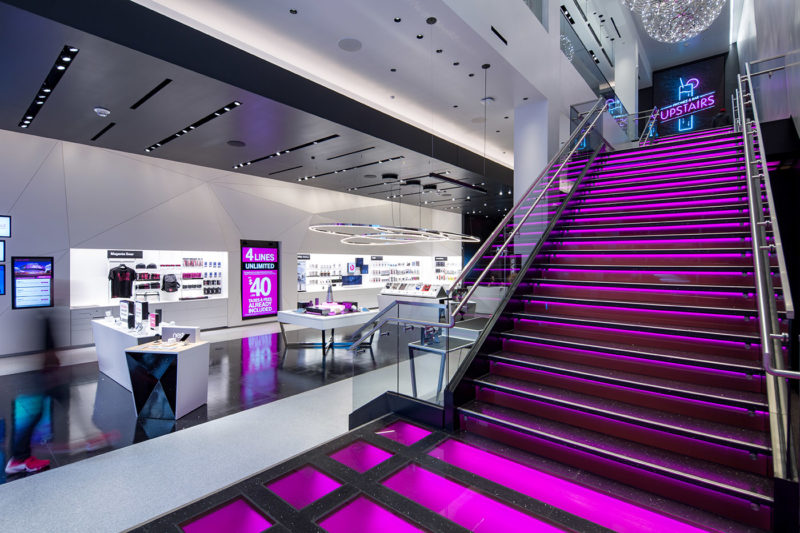 Magenta Is Everywhere At T Mobile S Signature Store On The