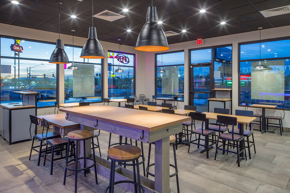 Taco bell fremont reflects new design prototype metal