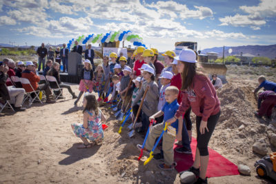 FCL Children help break ground March 18th