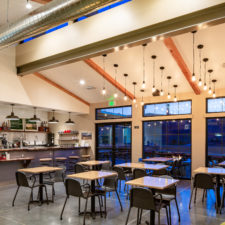 Indoor dining at Cottonwood café in Blue Diamond, near Red Rock