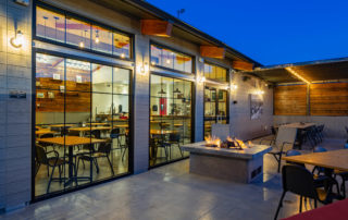 Outdoor dining at Cottonwood café in Blue Diamond, near Red Rock