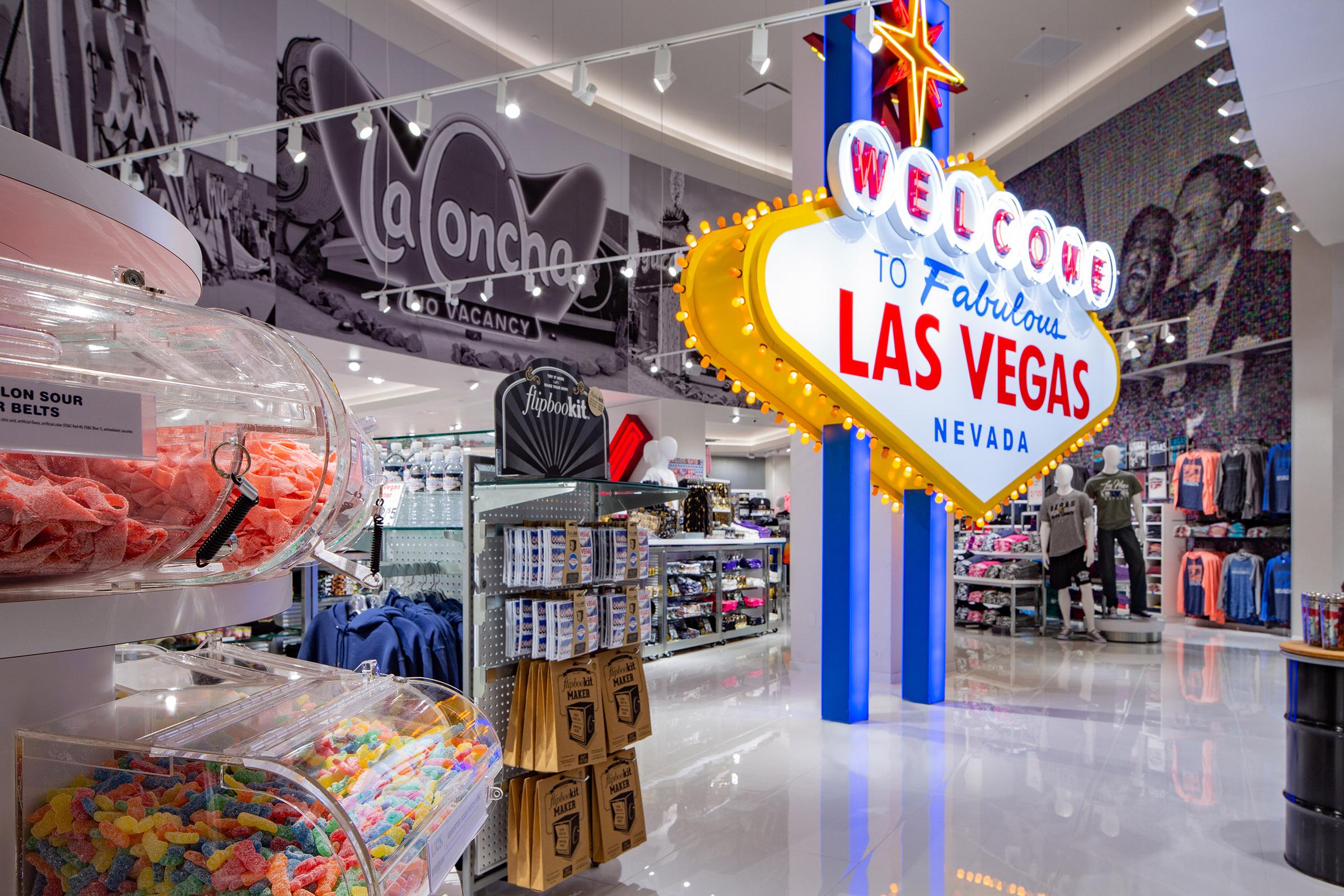 Welcome To Las Vegas Signage Lighting Merchandise